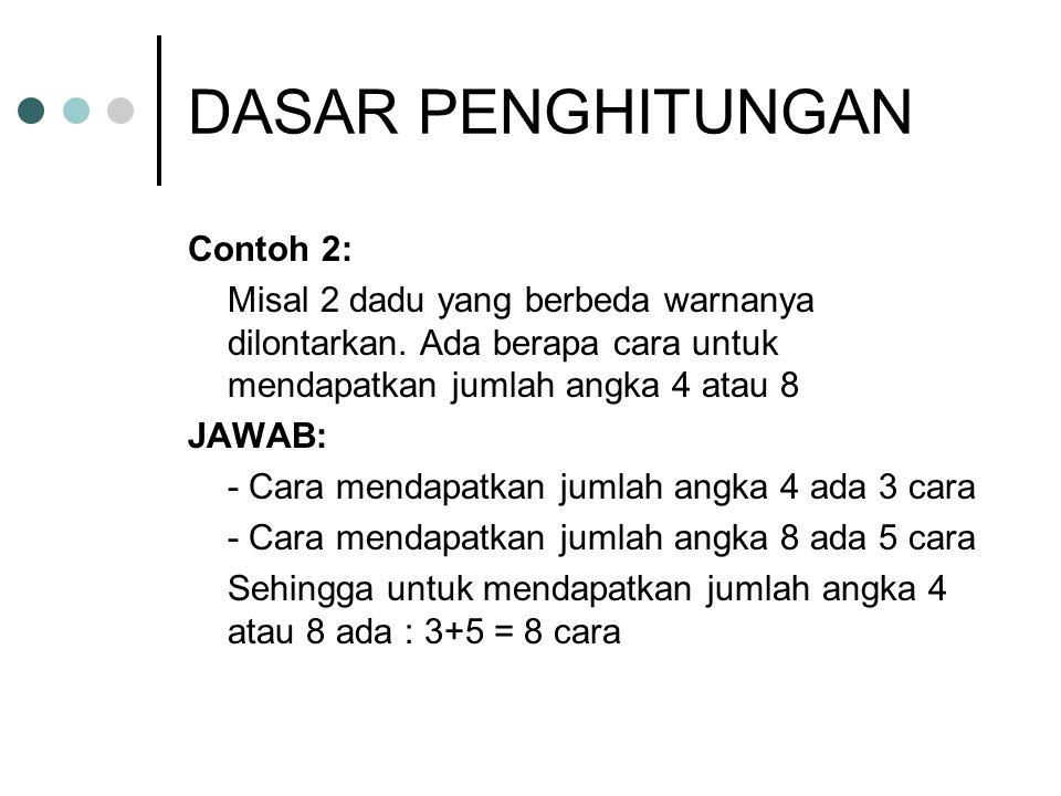 DASAR PENGHITUNGAN Contoh 2: