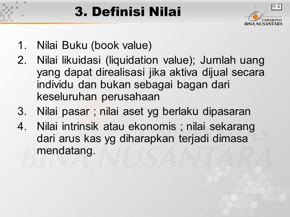 3. Definisi Nilai Nilai Buku (book value)