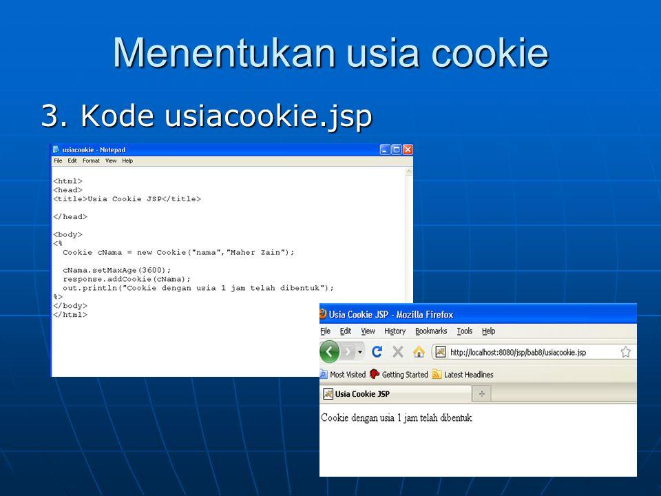 Menentukan usia cookie