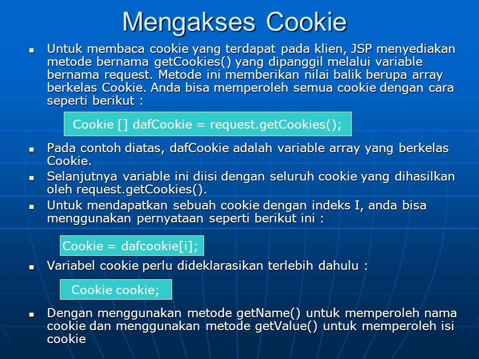 Mengakses Cookie
