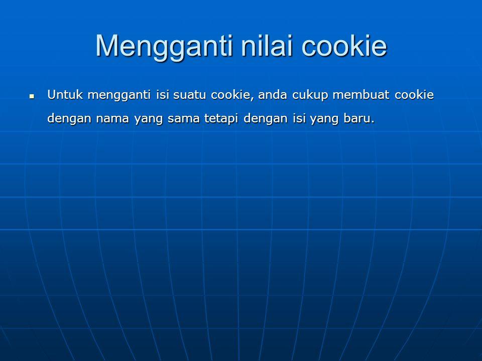 Mengganti nilai cookie