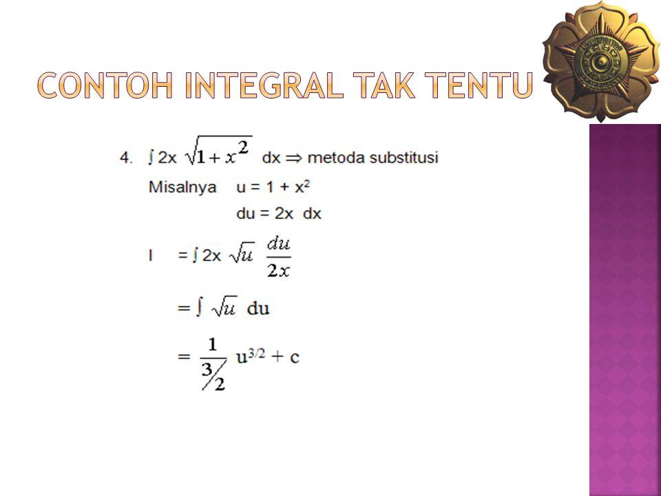 CONTOH INTEGRAL TAK TENTU