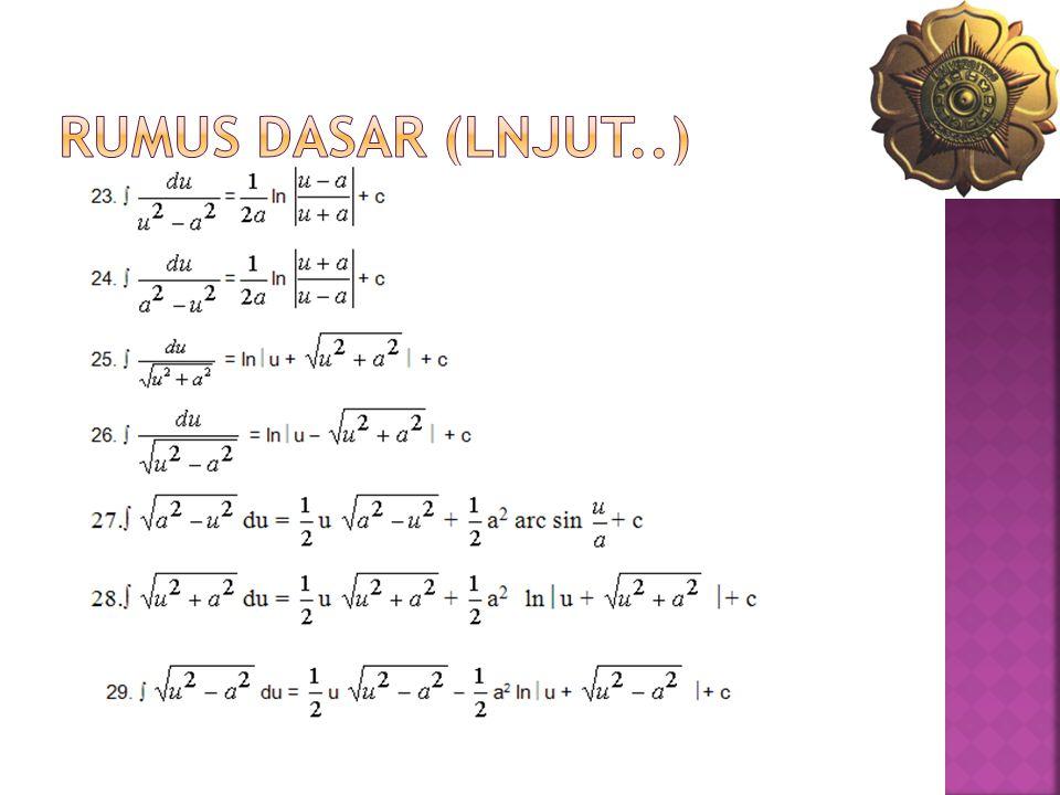 RUMUS DASAR (lnjut..)