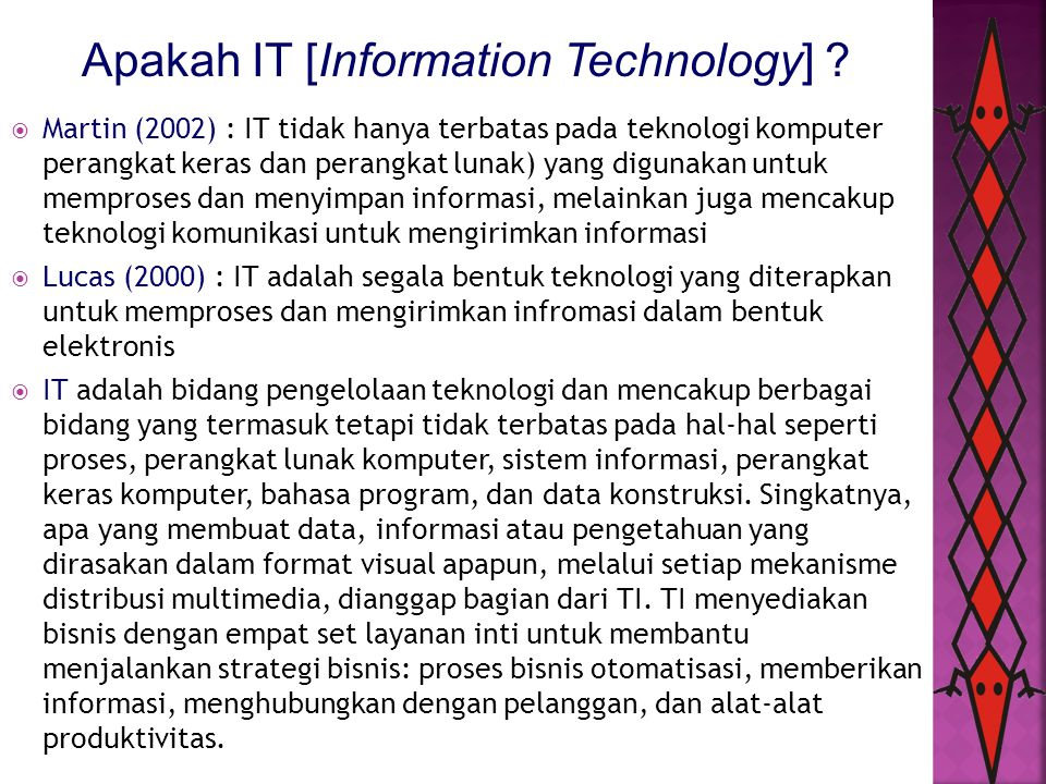 Apakah IT [Information Technology]