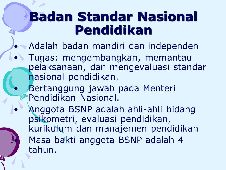 Badan Standar Nasional Pendidikan