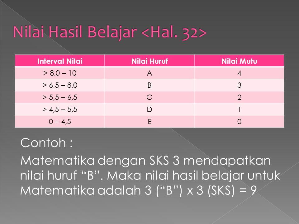 Nilai Hasil Belajar <Hal. 32>