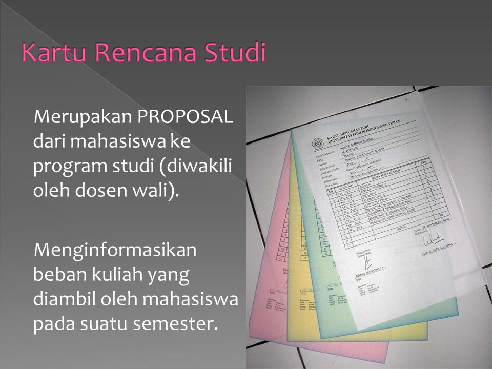 Kartu Rencana Studi