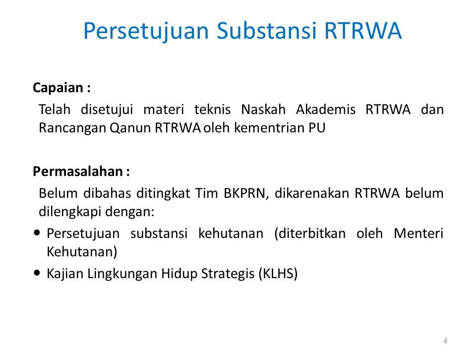Persetujuan Substansi RTRWA