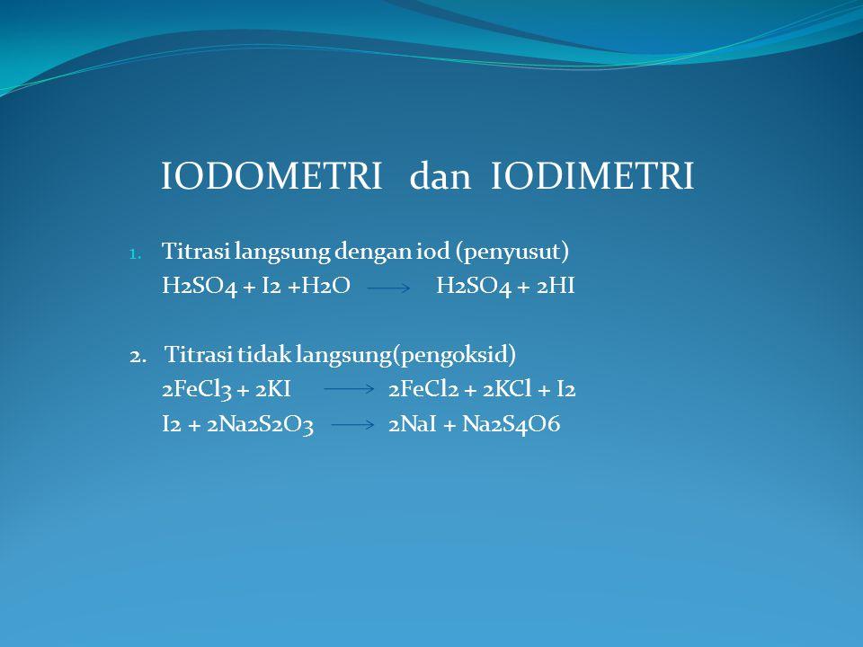 IODOMETRI dan IODIMETRI