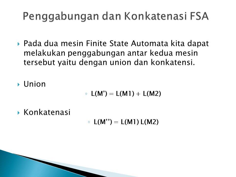 Penggabungan dan Konkatenasi FSA