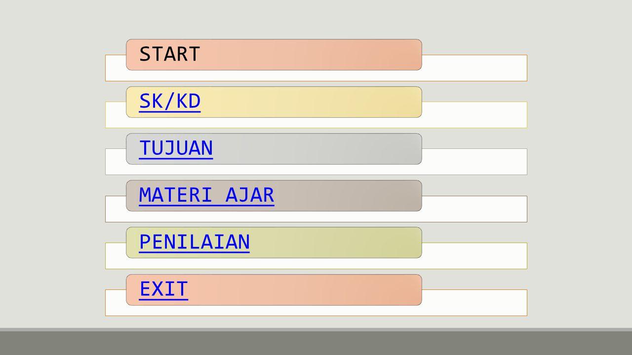 START SK/KD TUJUAN MATERI AJAR PENILAIAN EXIT