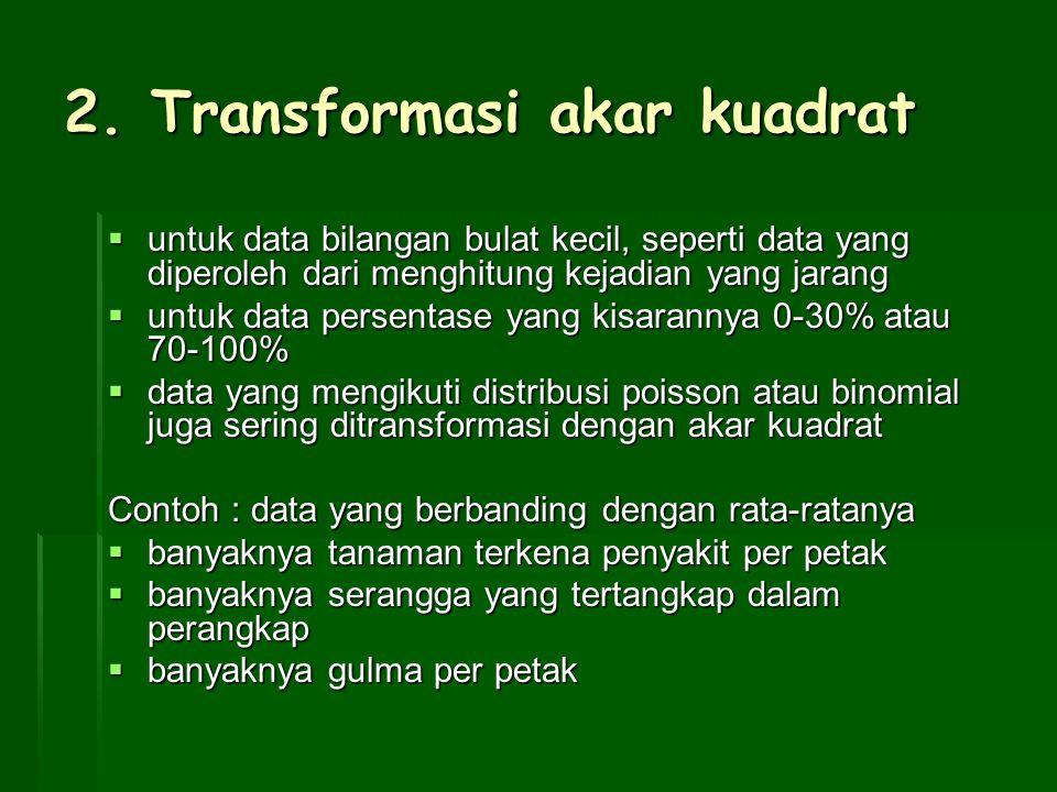 2. Transformasi akar kuadrat