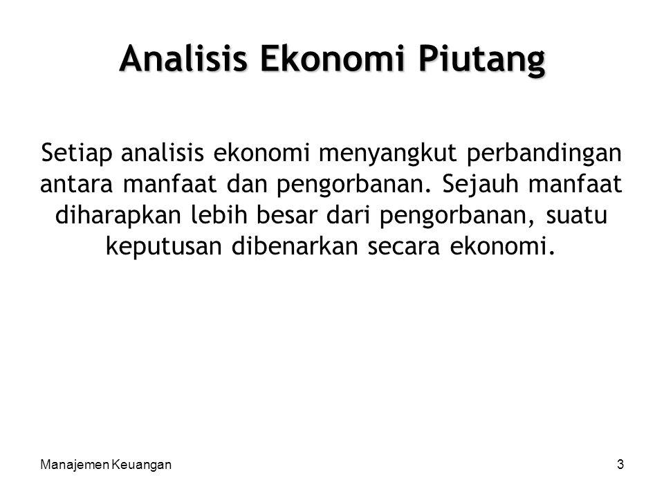 Analisis Ekonomi Piutang