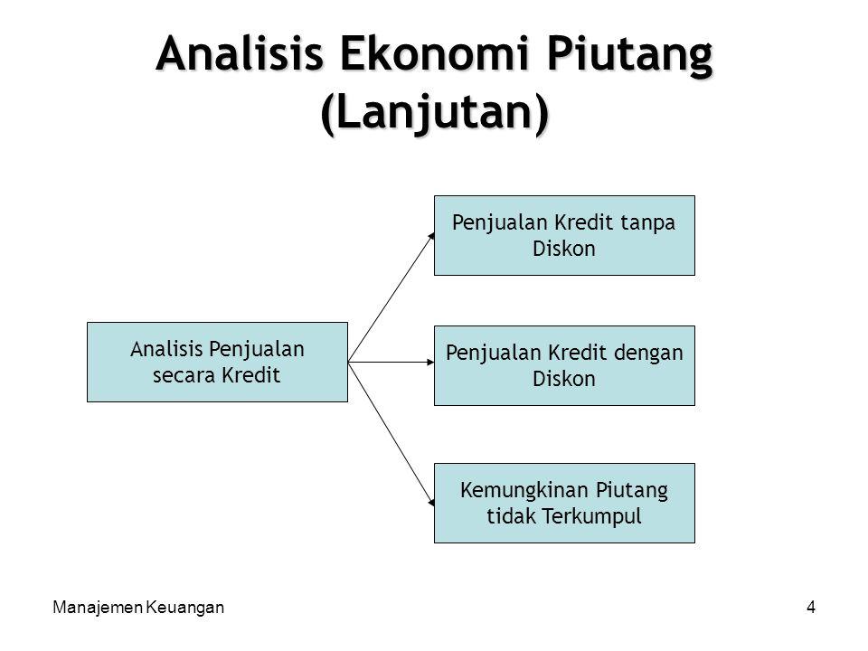 Analisis Ekonomi Piutang (Lanjutan)