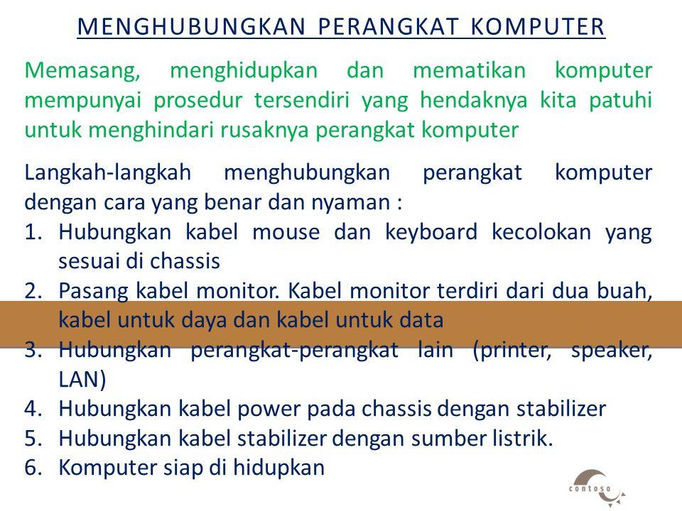 Menghubungkan perangkat komputer