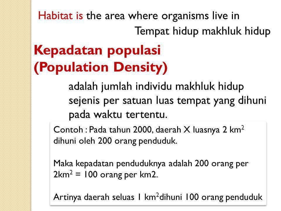 Kepadatan populasi (Population Density)