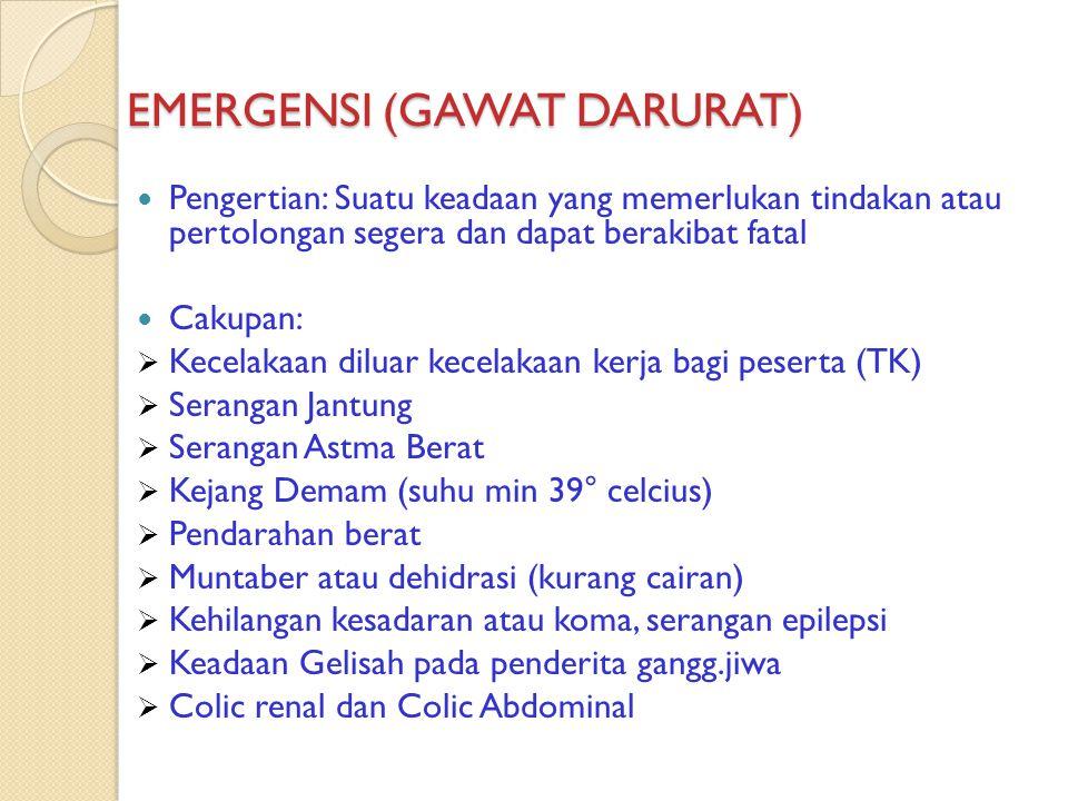 EMERGENSI (GAWAT DARURAT)