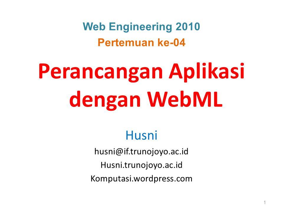 Perancangan Aplikasi dengan WebML