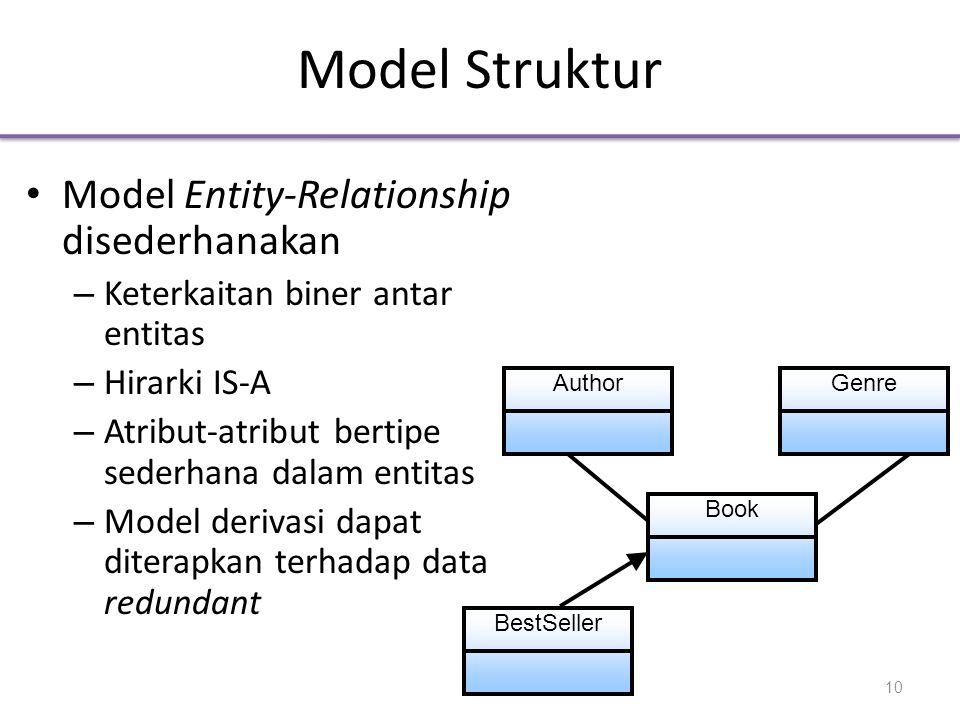 Model Struktur Model Entity-Relationship disederhanakan