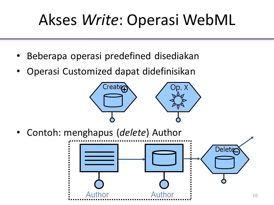 Akses Write: Operasi WebML