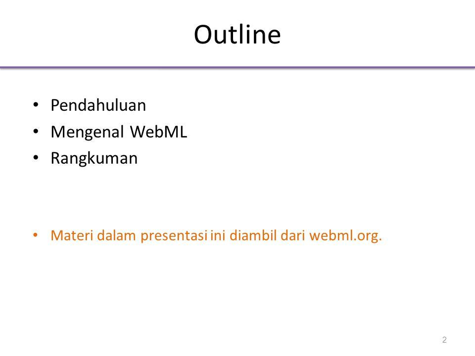 Outline Pendahuluan Mengenal WebML Rangkuman