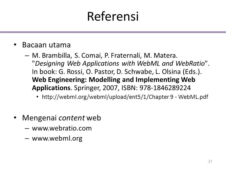 Referensi Bacaan utama Mengenai content web