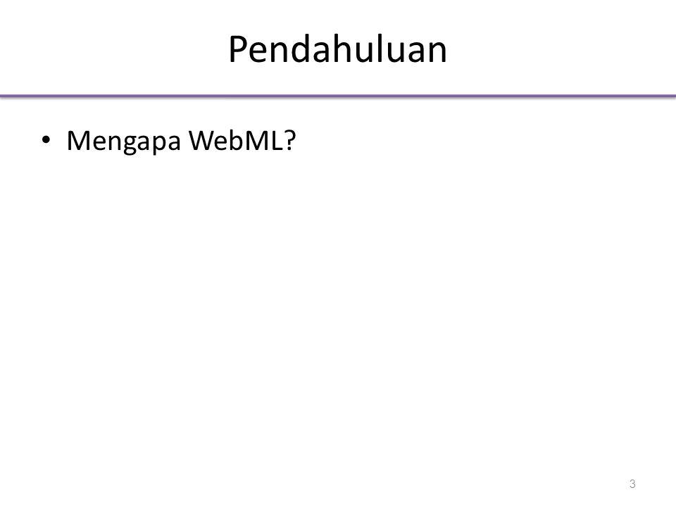 Pendahuluan Mengapa WebML