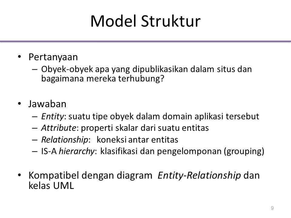 Model Struktur Pertanyaan Jawaban
