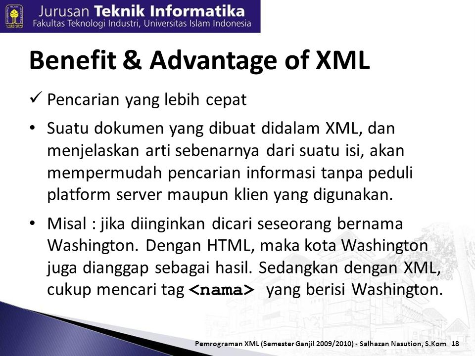 Benefit & Advantage of XML