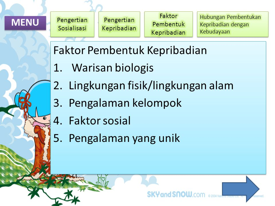 Faktor Pembentuk Kepribadian Warisan biologis