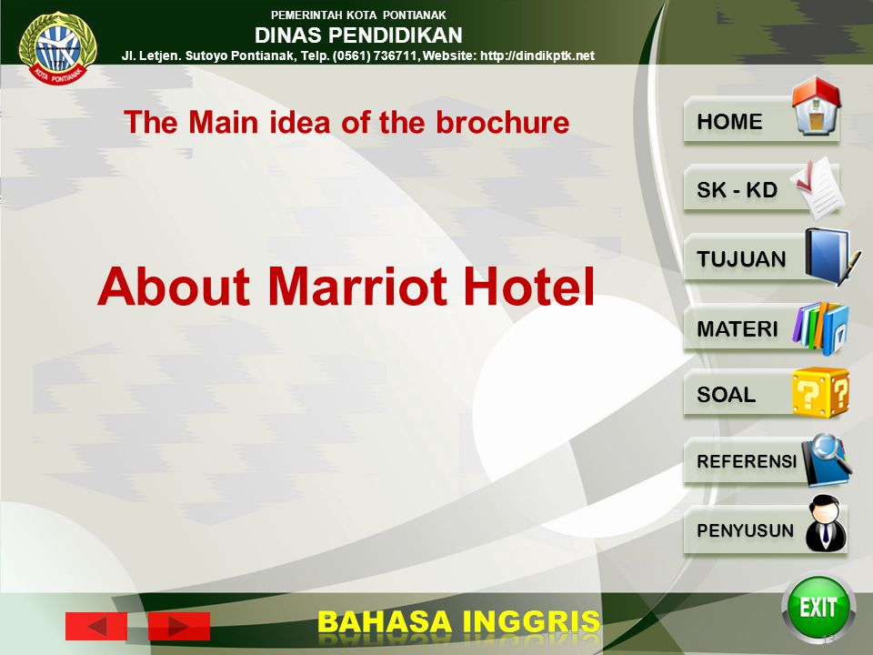 The Main idea of the brochure