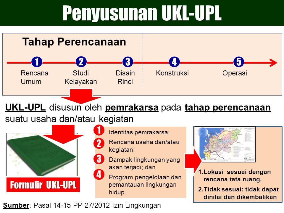 Penyusunan UKL-UPL Tahap Perencanaan 1 2 3 4 5