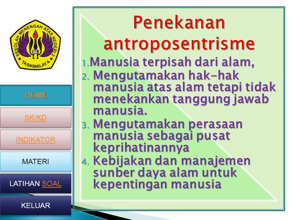 Penekanan antroposentrisme