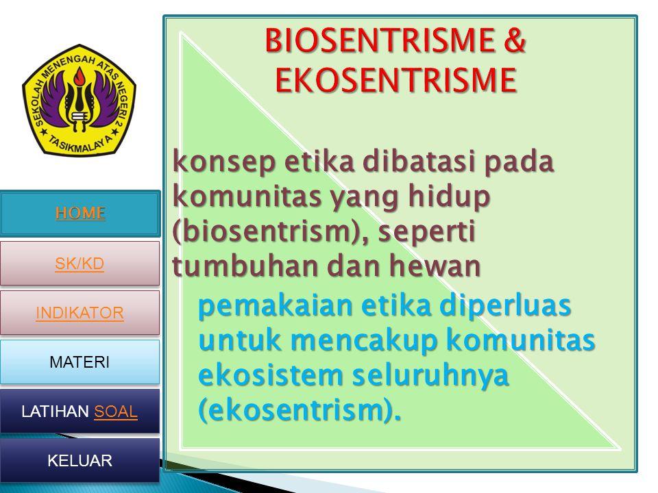 BIOSENTRISME & EKOSENTRISME