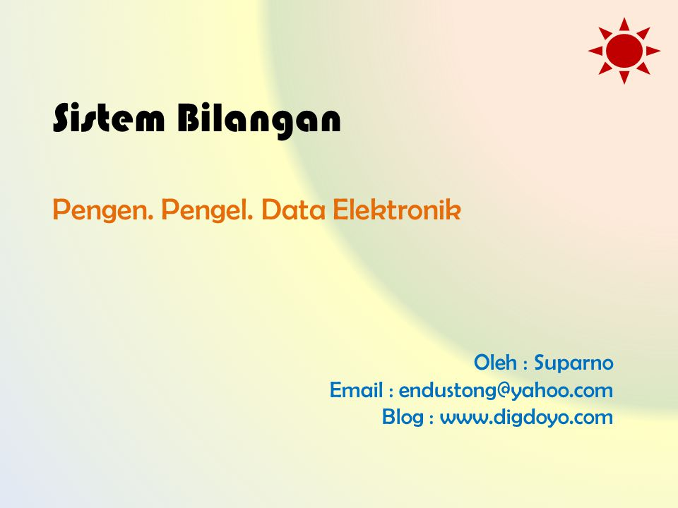 Pengen. Pengel. Data Elektronik
