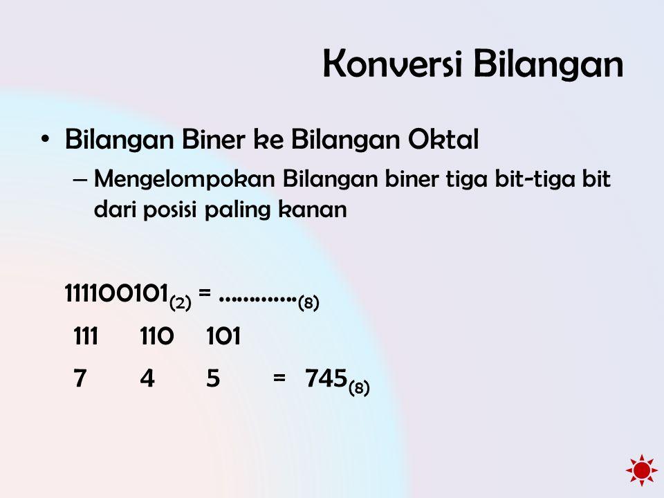 Konversi Bilangan Bilangan Biner ke Bilangan Oktal