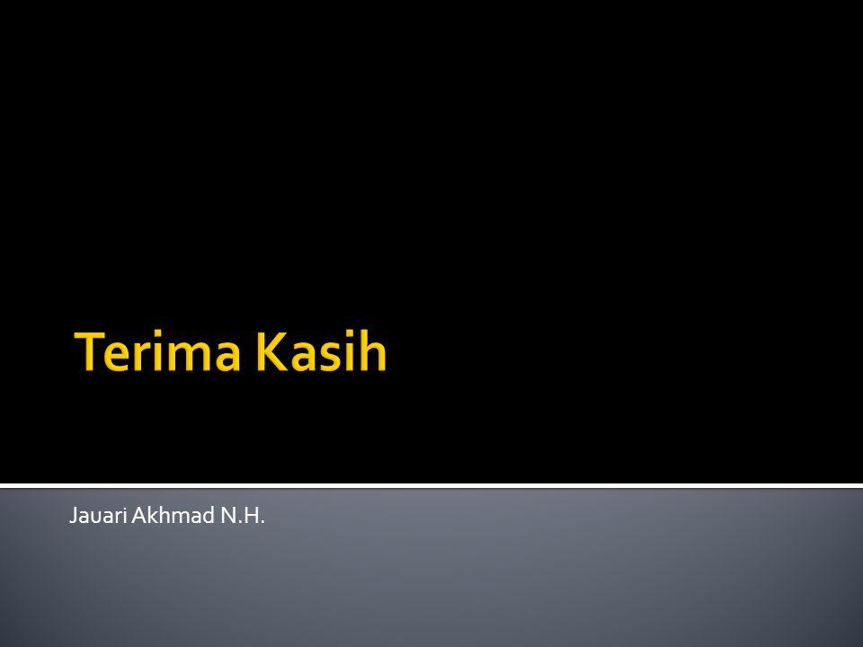 Terima Kasih Jauari Akhmad N.H.