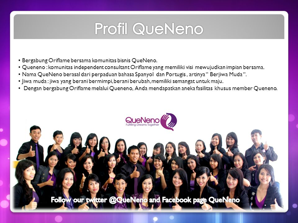 Follow our and Facebook page QueNeno
