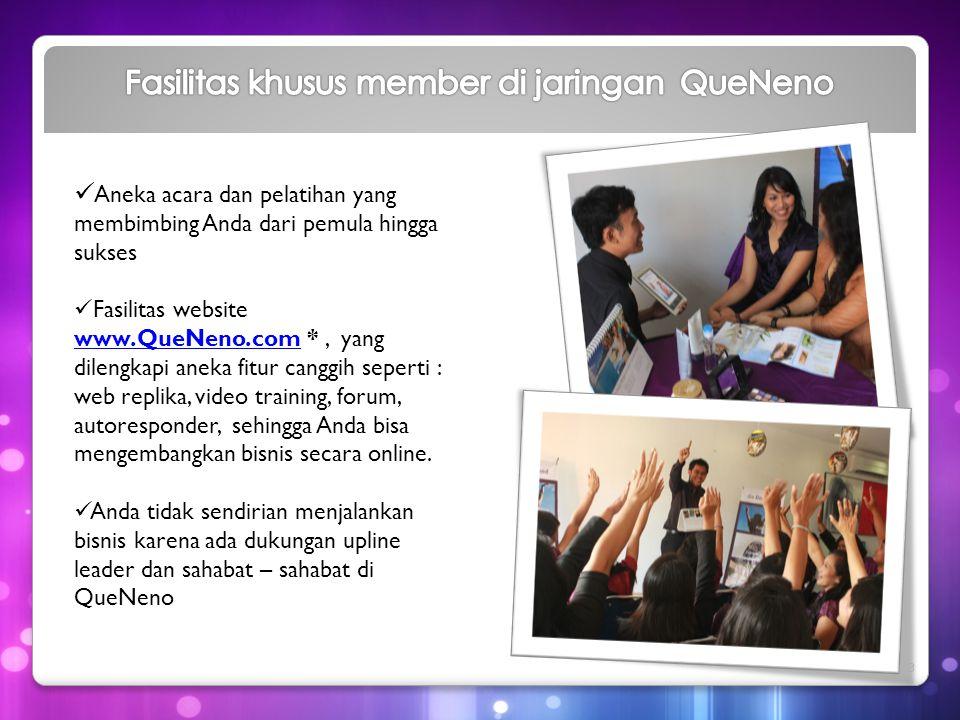Fasilitas khusus member di jaringan QueNeno