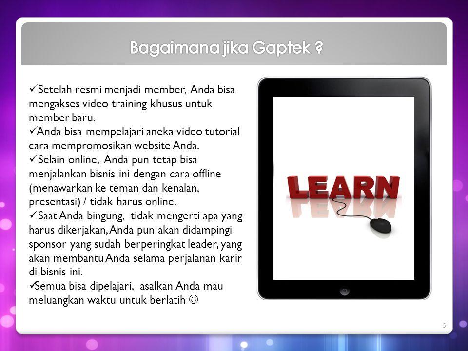 Bagaimana jika Gaptek Setelah resmi menjadi member, Anda bisa mengakses video training khusus untuk member baru.