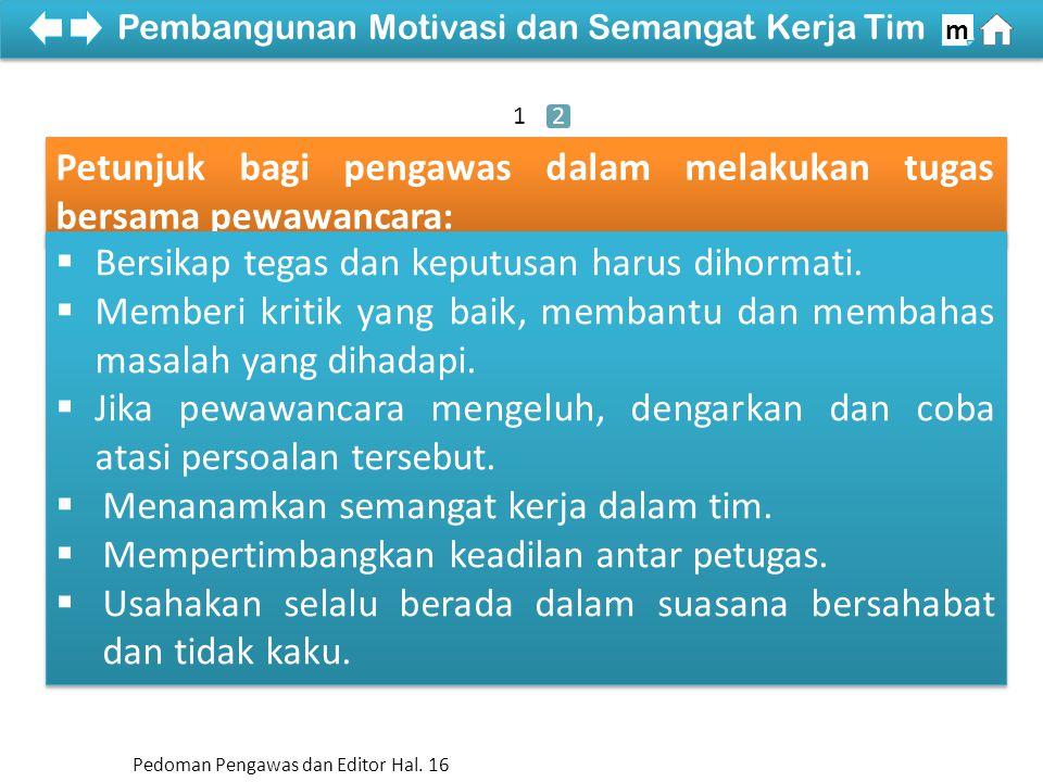 Pembangunan Motivasi dan Semangat Kerja Tim