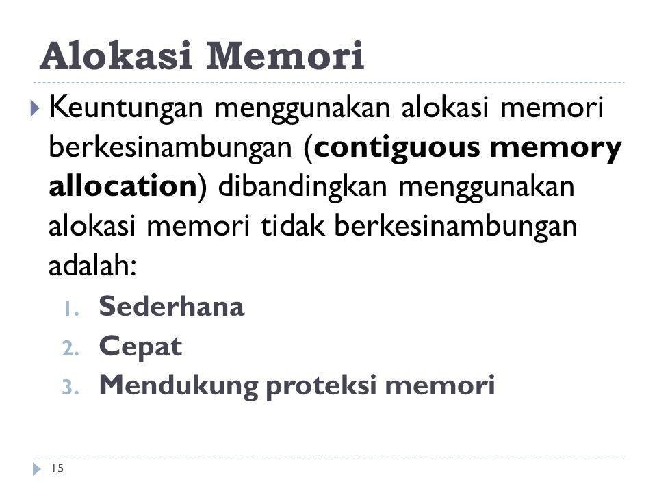 Alokasi Memori