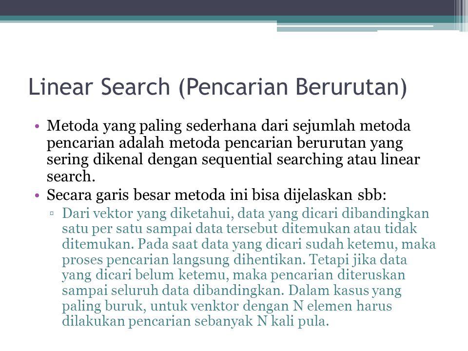 Linear Search (Pencarian Berurutan)