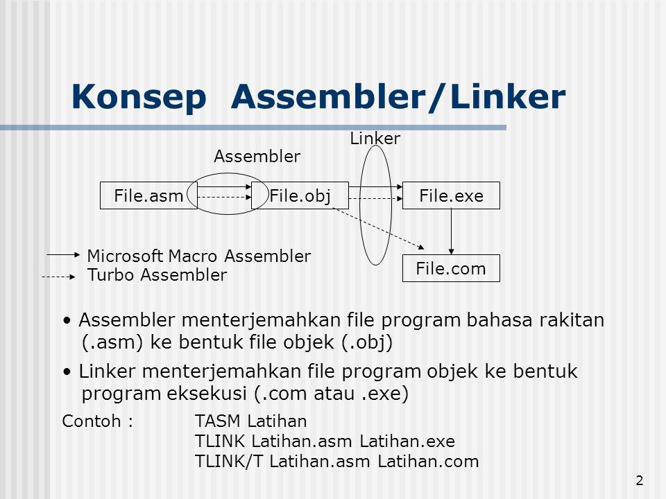 Konsep Assembler/Linker