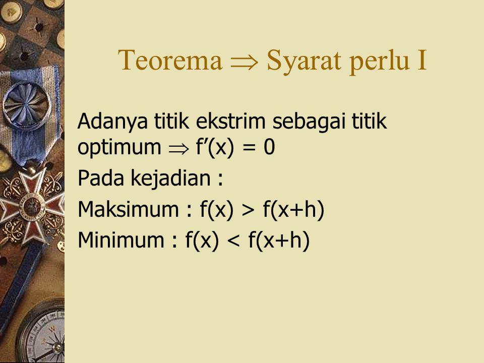 Teorema  Syarat perlu I