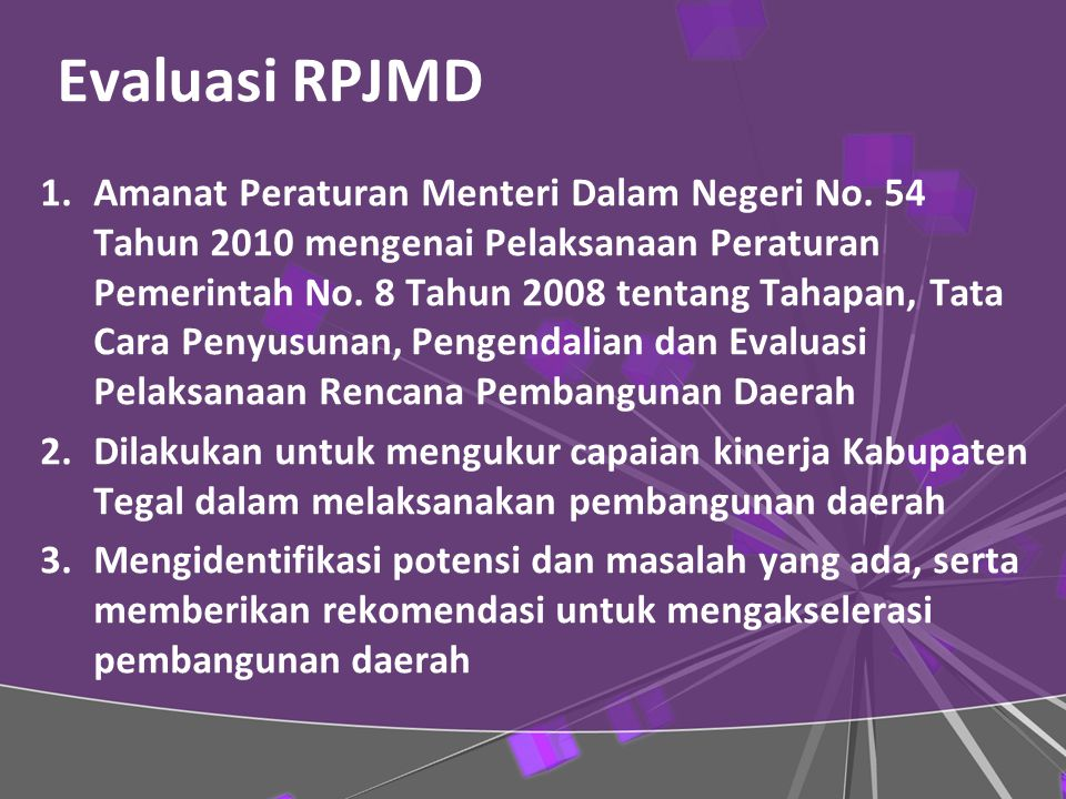 Evaluasi RPJMD