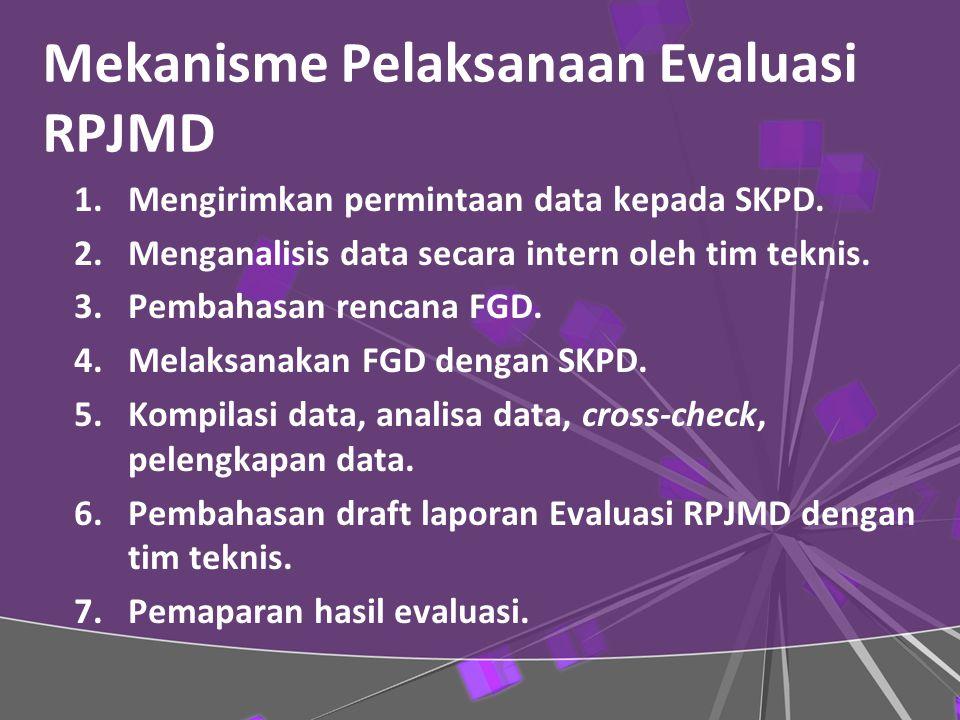 Mekanisme Pelaksanaan Evaluasi RPJMD