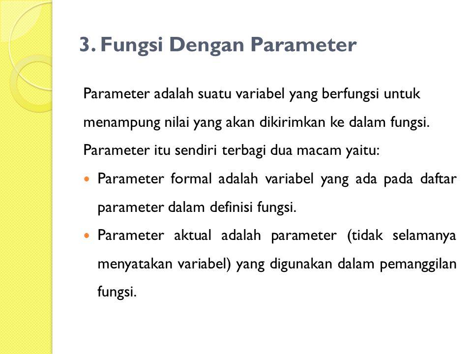 3. Fungsi Dengan Parameter