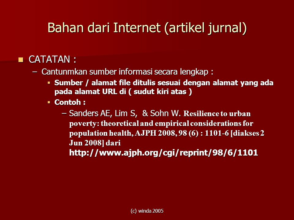 Bahan dari Internet (artikel jurnal)