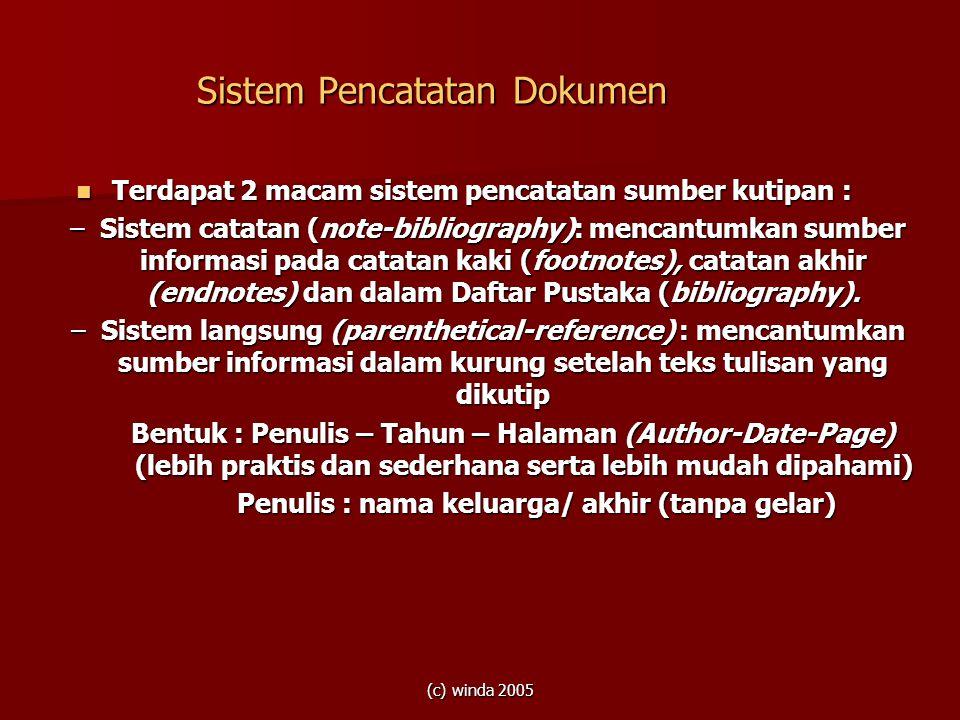 Sistem Pencatatan Dokumen